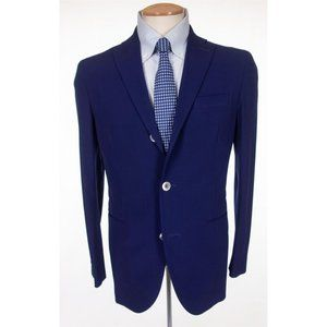 BOGLIOLI New 36 Blue Dover Unstructured Wool Suit